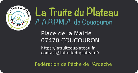 La Truite du Plateau - Carte de visite