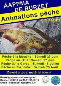 Animations Pêche été 2020 (cliquez pour agrandir le flyer)